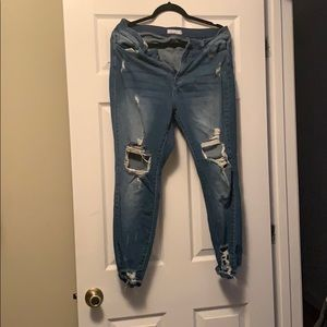 Super Distressed High-waisted Jeans